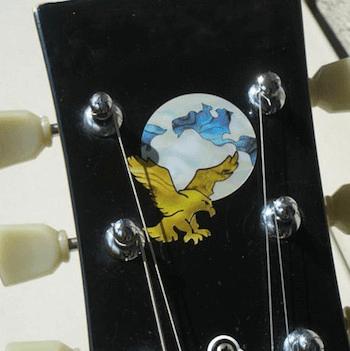 Garcia headstock eagle inlay