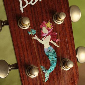 ukulele peghead inlay Little Mermaid