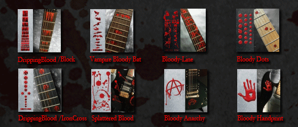 blood guitar splatter square