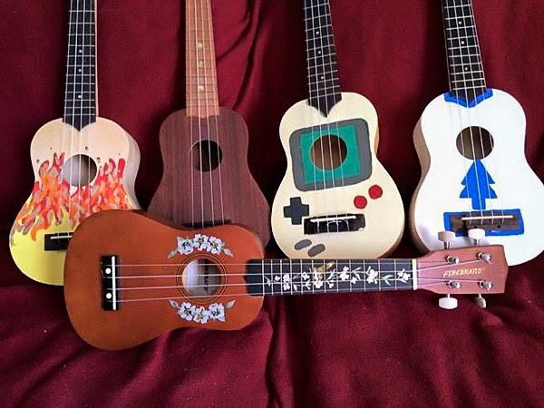 Hibiscus Rosette Inlay Stickers & Tree Of Life w/ Hummingbird Fret Markers