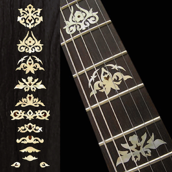 Image is loading Guitar-Inlay-Sticker-Neck-Fretboard-Decals-Fingerboard -Ornament-