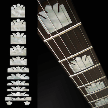 epiphone style block crown fret markers