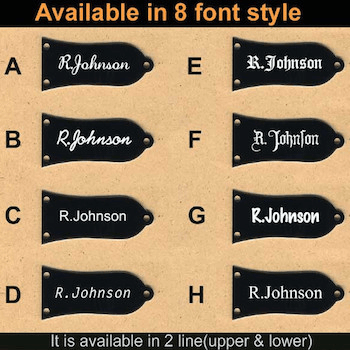 custom engraved 8 font