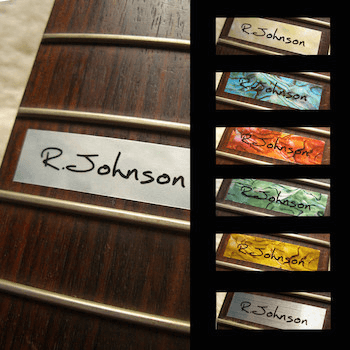 custom named 12th fret marker