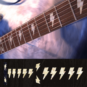 AC/DC Angus Lightning Bolt inlay