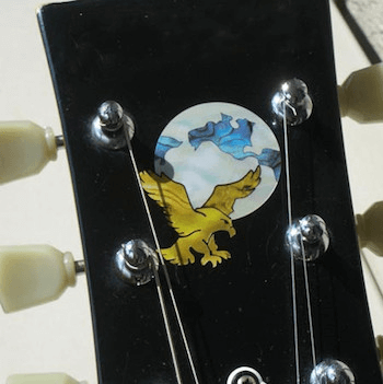 Garcia headstock eagle inlay